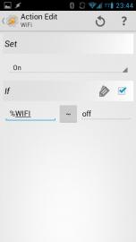 Tasker Wifi On wenn vorher Off