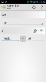 Tasker Wifi an wenn es vorher aus war